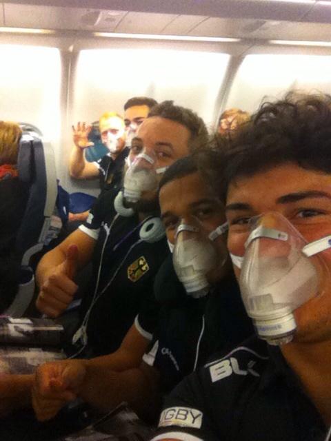 Die neuen Atemmasken wurden auf dem Flug getestet